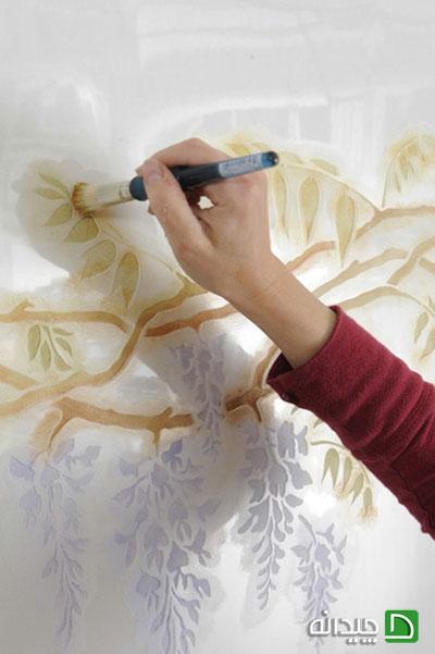 نقاشی کردن با استنسیل, نقاشی دیوار, استنسیل | painting-tutorials | دکوراسیون داخلی شهرنگ